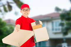 Delivery service to customer Stock Photos