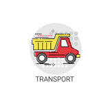 Delivery Service Transport Dump Truck Icon Royalty Free Stock Image