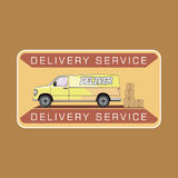 Delivery service van Royalty Free Stock Photos