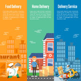 Delivery service vertical banners set Royalty Free Stock Image