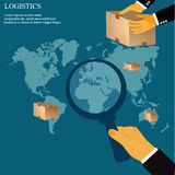Delivery, shipping, concept, vector illustration in flat design for web sites Stock Photography