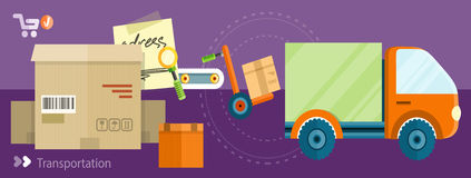 Delivery shipping concept Royalty Free Stock Image