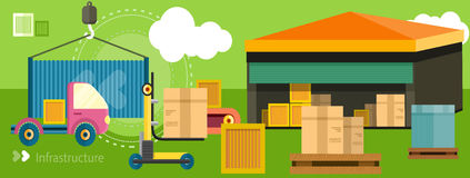Delivery shipping concept Royalty Free Stock Photo