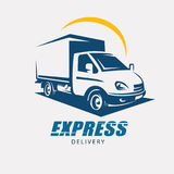 Delivery and shipping service royalty free illustration