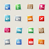 Delivery simply icons Stock Photos