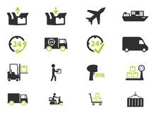 Delivery simply icons Royalty Free Stock Image