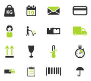 Delivery simply icons Stock Photo