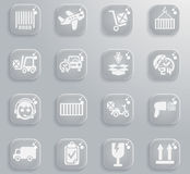 Delivery simply icons Stock Photography