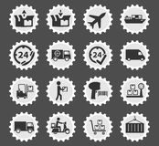 Delivery simply icons Royalty Free Stock Photo