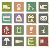 Delivery simply icons Royalty Free Stock Images