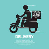 Delivery. Speedy Motorcycle Vector Illustration Royalty Free Stock Images