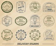 Delivery Stamps Set Royalty Free Stock Photo
