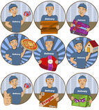 Delivery stickers Royalty Free Stock Photos