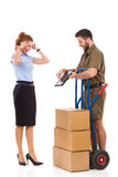 Delivery surprise Royalty Free Stock Photo