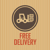 Delivery symbol Royalty Free Stock Image