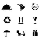 Delivery symbols Royalty Free Stock Photos