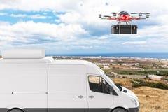 Delivery system del fuco royalty illustrazione gratis