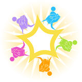 Delivery Teamwork Icon. Image for effective delivery - teamwork royalty free illustration