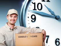 Delivery on time Royalty Free Stock Photos