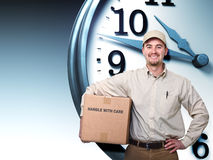 Delivery on time Royalty Free Stock Photography
