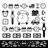 Delivery and time  icon set Royalty Free Stock Image