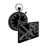 Delivery on time to the destination. Logistics and delivery single icon in black style isometric vector symbol stock Stock Image