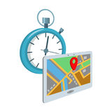 Delivery on time to the destination. Logistics and delivery single icon in cartoon style isometric vector symbol stock Royalty Free Stock Photo