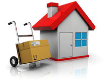Delivery to home Royalty Free Stock Image