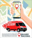 Delivery tracking & package track app cool design banner. Delivery tracking package track app cool design Royalty Free Stock Photo