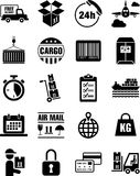 Delivery, transport and cargo icons. This is a collection of delivery, transport and cargo icons Stock Photo