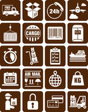 Delivery, transport and cargo icons. This is a collection of delivery, transport and cargo icons Stock Photography