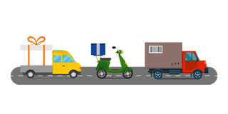 Delivery transport cargo logistic vector illustration. Royalty Free Stock Image