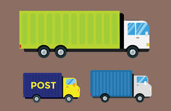 Delivery transport cargo truck vector illustration trucking car trailer delivery business freight vehicle van logistic Royalty Free Stock Photography