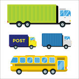 Delivery transport cargo truck vector illustration trucking car trailer delivery business freight vehicle van logistic Stock Photography