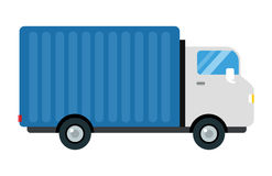 Delivery transport cargo truck vector illustration trucking car trailer transportation delivery business freight vehicle Royalty Free Stock Photos
