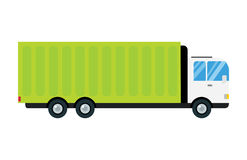 Delivery transport cargo truck vector illustration trucking car trailer transportation delivery business freight vehicle Stock Photography