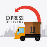 Delivery,transport and logistics business Royalty Free Stock Image
