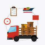Delivery,transport and logistics business Royalty Free Stock Photos
