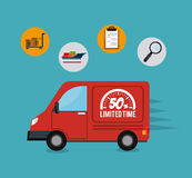 Delivery,transport and logistics business. Vector illustration Stock Image