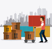 Delivery,transport and logistics business Royalty Free Stock Photography