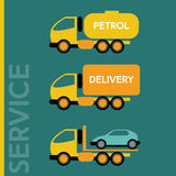 Delivery Transportation Cars Royalty Free Stock Image
