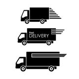 Delivery transportation icon on white background Royalty Free Stock Image