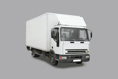 Delivery truck. Isolated on gray background Stock Photo