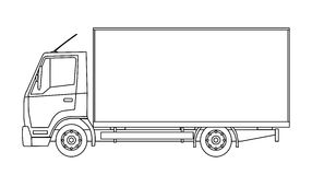 Delivery truck Royalty Free Stock Images