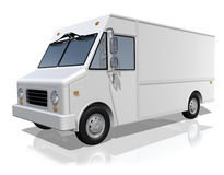 Delivery Truck. With blank surface Royalty Free Stock Photo