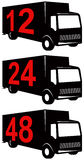 Delivery truck stock illustration