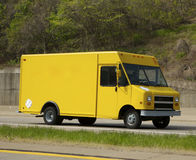 Delivery Truck. Yellow Delivery Truck Royalty Free Stock Photo