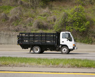Delivery Truck. On the Highway Royalty Free Stock Photo