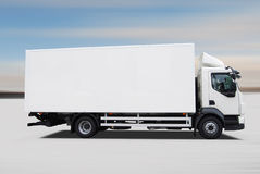 Delivery truck. On snow  background Royalty Free Stock Image