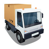 Delivery truck with a big box Royalty Free Stock Photography